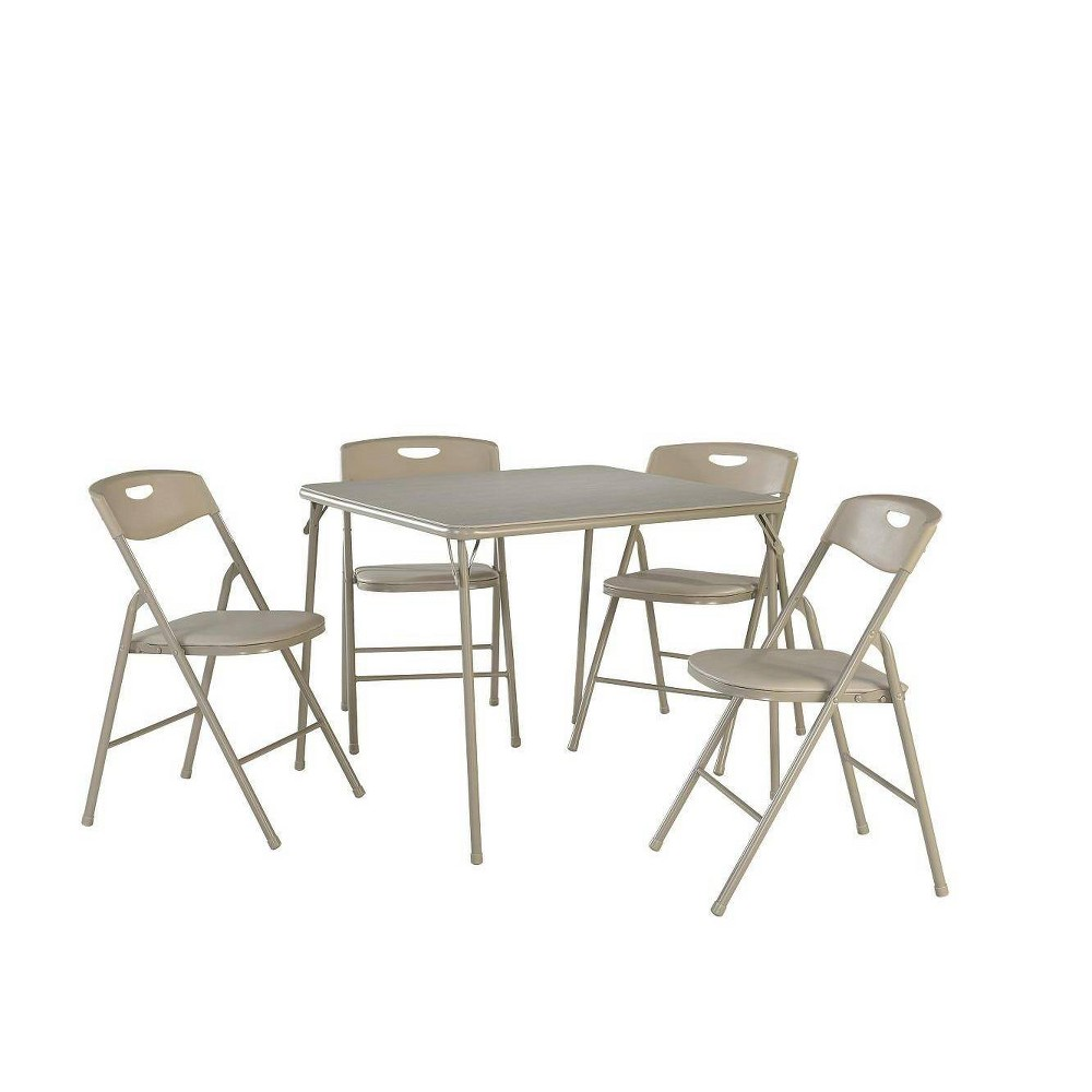 Image of 5pc Folding Table and Chair Set Antique Linen - Room & Joy