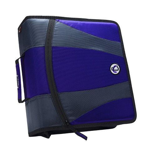Case-it Dual Ring Zipper Binder, D-Ring, 2 Inches, Purple - image 1 of 5