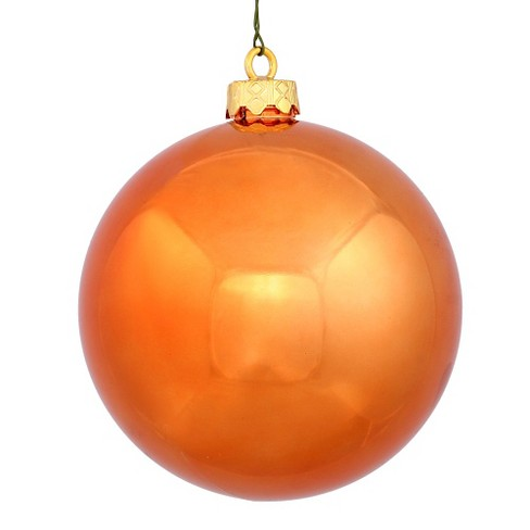 32ct Burnt Orange Shiny Ball Shatterproof Christmas Ornament Set - image 1 of 1