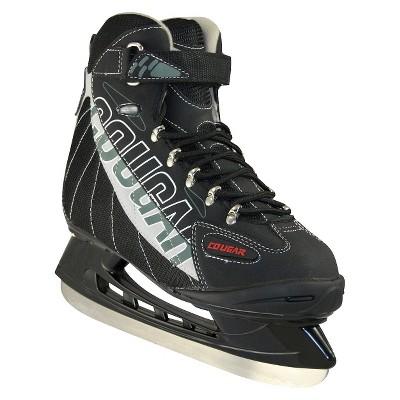 Cougar Men's Soft Boot Hockey Skates - Black