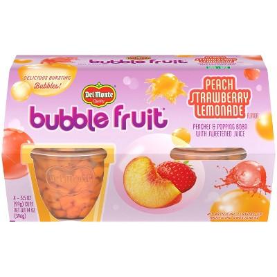 Del Monte Bubble Fruit Peach Strawberry Lemonade - 3.5oz