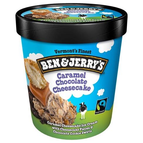 Ben & Jerry's Caramel Chocolate Cheesecake Truffles Ice Cream - 16oz - image 1 of 4