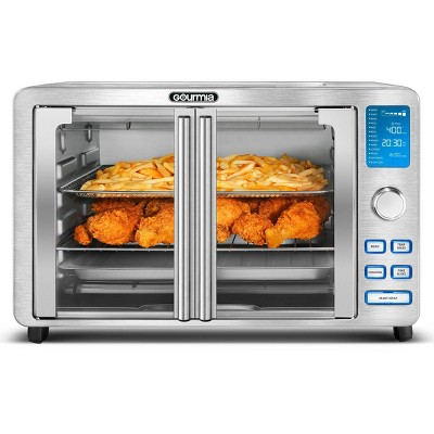 Gourmia 9-Slice Digital Air Fryer Oven with 14 One-Touch Cooking Functions and Auto French Doors
