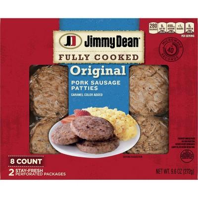 Jimmy Dean Original Fully Cooked Pork Sausage Patties - 9.6oz/8ct