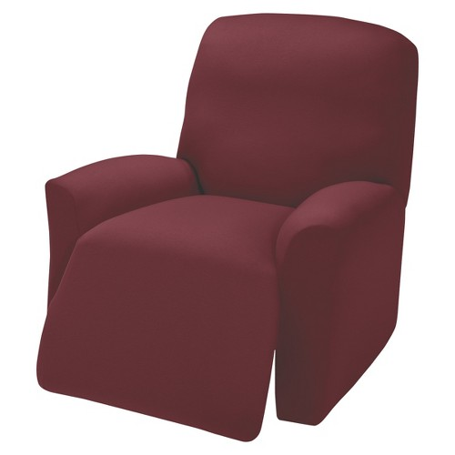 Ruby Jersey Large Recliner Slipcover - Madison Industries, Red