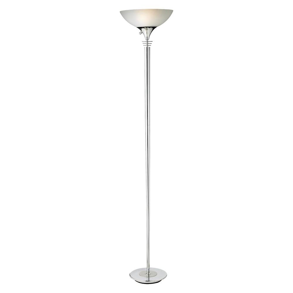 Image of Adesso Metropolis Floor Lamp - Silver