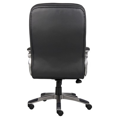 High Back Executive Chair With Pewter Finished Base/Arms Black - Boss Office Products : Target
