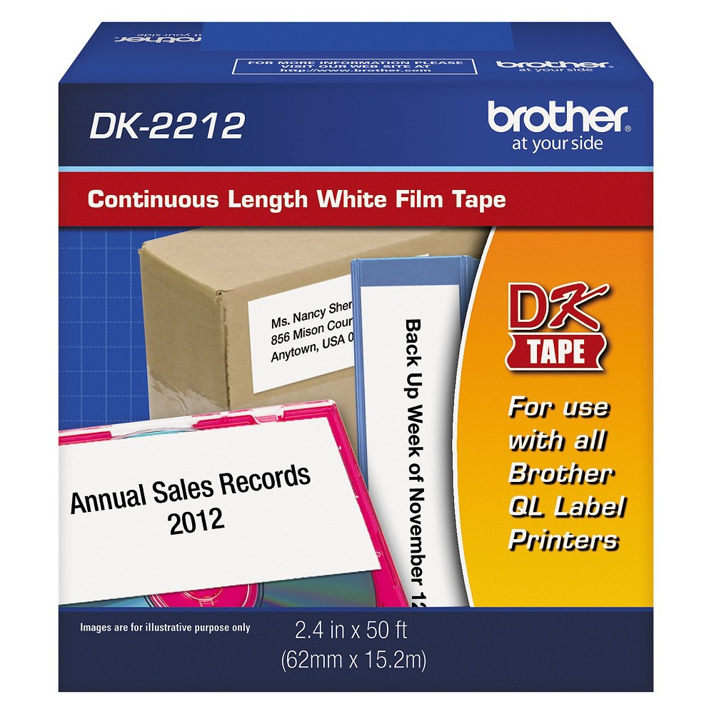Brother Self - Adhesive Tapes 50ft - White