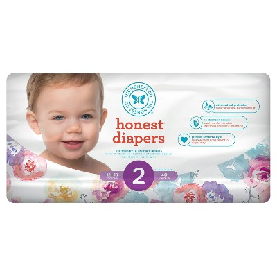 Honest Company Diapers, Rose Blossom - Size 2 (40ct)
