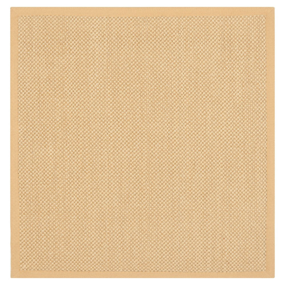 Solid Woven Square Area Rug Maize