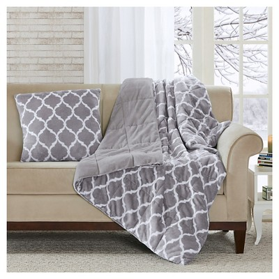 Gray Ogee Oversized Down Alternative Throw (60 X70 )