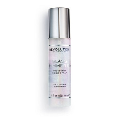 Makeup Revolution Glass Shimmer Fix Fixing Spray - 0.5oz