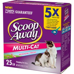Scoop Away Multi-Cat Clumping Cat Litter Scented- 25lbs