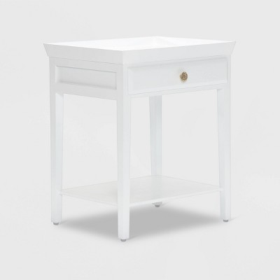 Hampton Side Table with Drawer White - Finch
