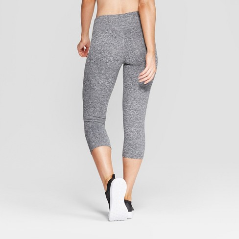 8f80f8499847 Women s Freedom Mid-Rise Capri Leggings - C9 Champion® Black Heather    Target