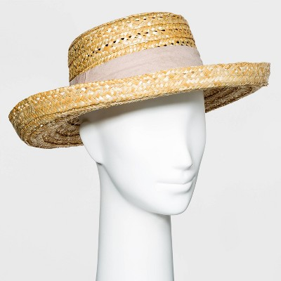 Women's Wheat Straw Kettle Hat - A New Day™
