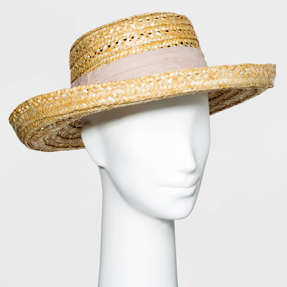 Tea Party Hats – Victorian to 1950s Womens Wheat Straw Kettle Hat - A New Day Natural $22.00 AT vintagedancer.com