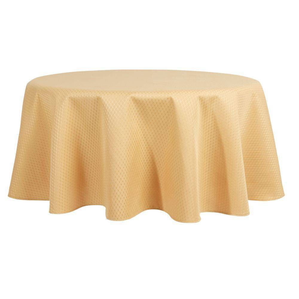 70 34 Round Mckenna Tablecloth Gold Town 38 Country Living