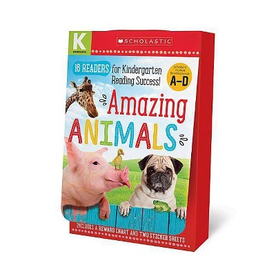 Amazing Animals A-D Kindergarten Box Set: Scholastic Early Learners (Guided Reader) - by  Scholastic & Scholastic Early Learners