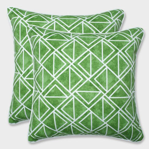 "18.5"" 2pk Lanova Palm Throw Pillows Green - Pillow Perfect - image 1 of 1"