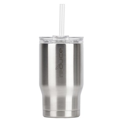 Reduce 14oz Stainless Steel Tumbler With Lid And Straw Silver