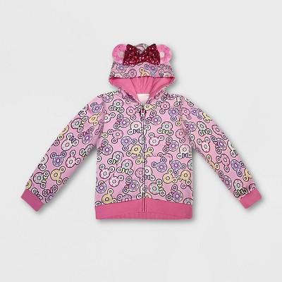 Girls' Disney Minnie Mouse I Am Donut Activewear Sweatshirt - Pink - Disney Store