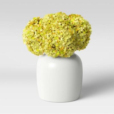 """7"""" x 6"""" Artificial Yellow Flower Arrangement in Vase Cream - Threshold™"""