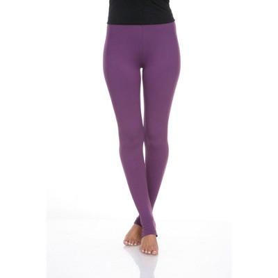 Women's Super Soft Solid Leggings - White Mark