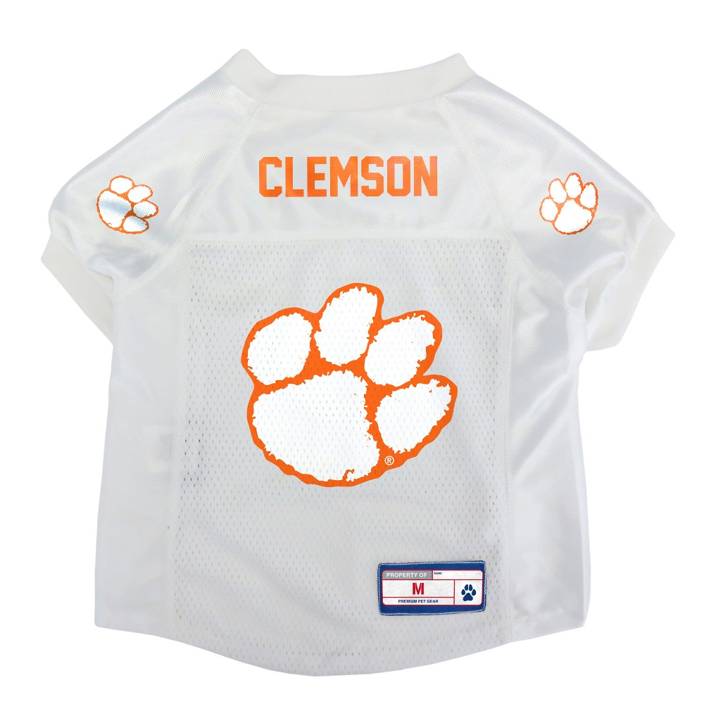 Clemson Tigers Little Earth Pet Football Jersey - S, Multicolored