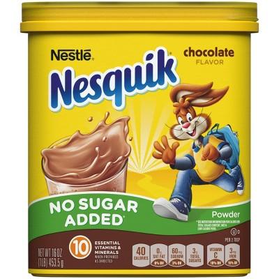 Nestle Nesquik No Sugar Added Chocolate Milk Mix 16oz