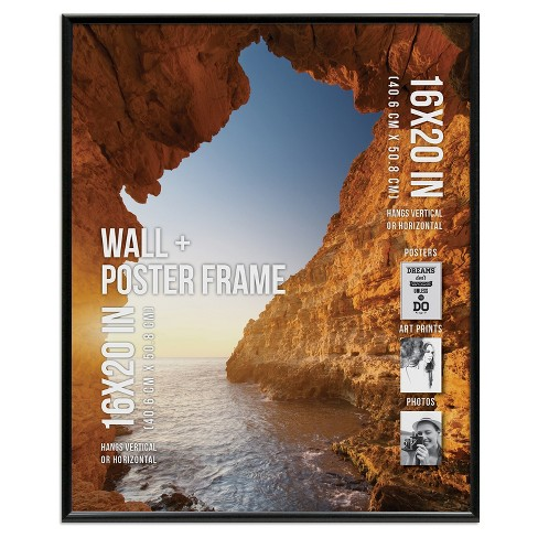 "Poster Frame Thin Profile - Black - (16""x20"") - image 1 of 4"