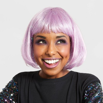 Adult Shimmer Bob Halloween Wig (Lavender with Iridescent Tinsel) - Hyde & EEK! Boutique™