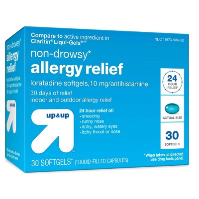 Loratadine Allergy Relief Softgels - 30ct - up & up™