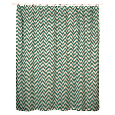 Rizzy Chevron Shower Curtain - Teal