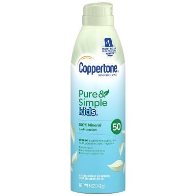 Coppertone Pure & Simple Kid's Sunscreen Spray - SPF 50 - 5oz