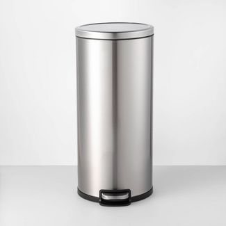 30L Step Trash Can Silver - Made By Design™