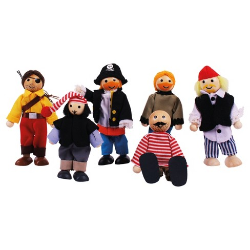 Bigjigs Toys Wooden Pirates Doll Set - image 1 of 2