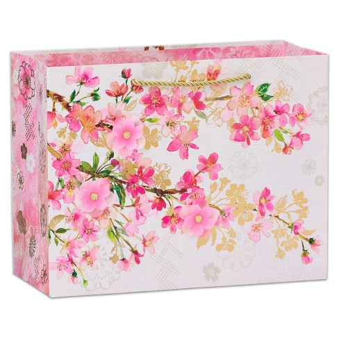 Graceful Bloom Large Gift Bag - PAPYRUS - image 1 of 3