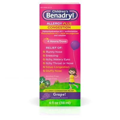 Children's Benadryl Allergy Plus Congestion