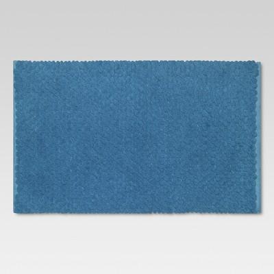 Penny Textured Bath Rug (20 x34 )Blue - Threshold™