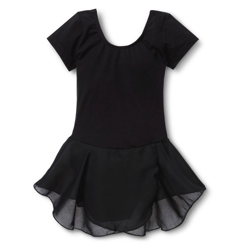 Danz N Motion Girls' Activewear Leotard Dress - Black - image 1 of 1