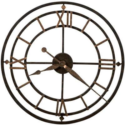 Howard Miller York Station Wall Clock 625-299 – Modern & Round with Quartz Movement