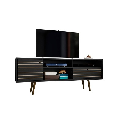 """70.86"""" Liberty Mid Century Modern TV Stand with 3 Shelving Spaces and 1 Drawer - Manhattan Comfort"""