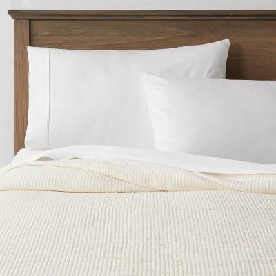 Full/Queen Double Cloth Quilt Cream - Threshold™