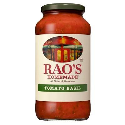 Rao's Homemade Tomato Basil Pasta Sauce Premium Quality All Natural Tomato Sauce & Pasta Sauce Keto Friendly & Carb Conscious - 24oz