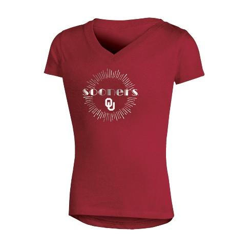 NCAA Girl's V-Neck T-Shirt Oklahoma Sooners - image 1 of 1