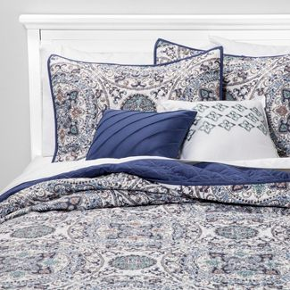5pc Full/Queen Rihanna Quilt Set Indigo