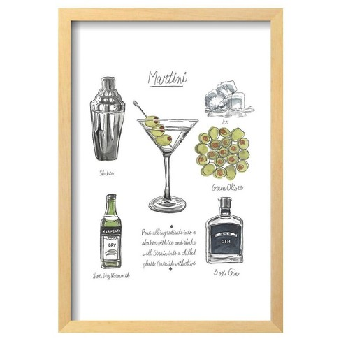 "Classic Cocktail - Martini By Naomi Mccavitt Framed Poster 13""X19"" - Art.Com - image 1 of 4"