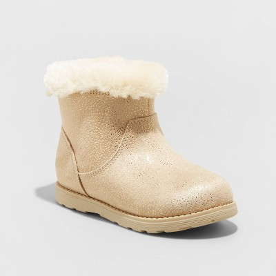 Toddler Girls' Emani Zipper Slip-On Shearling Style Winter Boots - Cat & Jack™