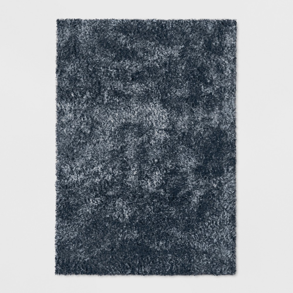 Indigo (Blue) Solid Tufted Area Rug 9'X12' - Project 62